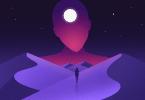 Ilustração de ser extraterrestre olhando para humano caminhando