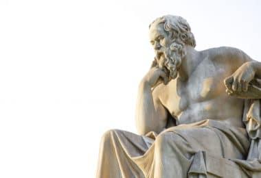 Estátua de Sócrates.