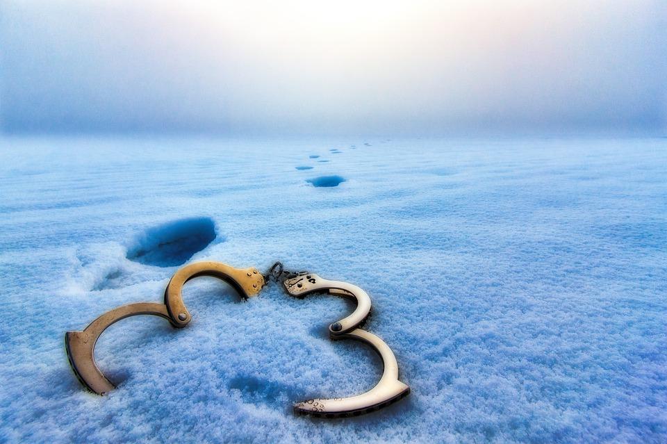 Algemas na neve