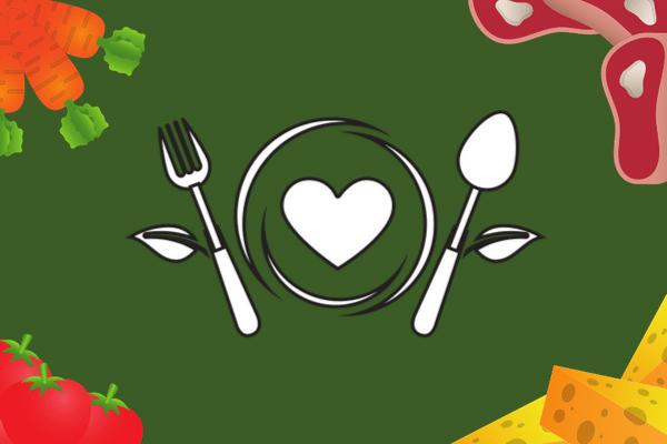 Ilustração Veganismo com prato e talheres