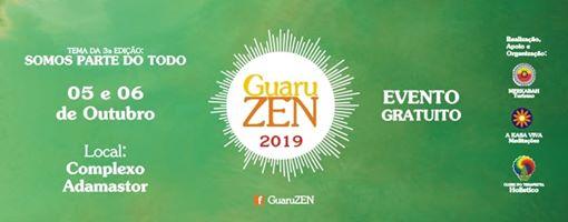 Banner com informações do evento GuaruZen