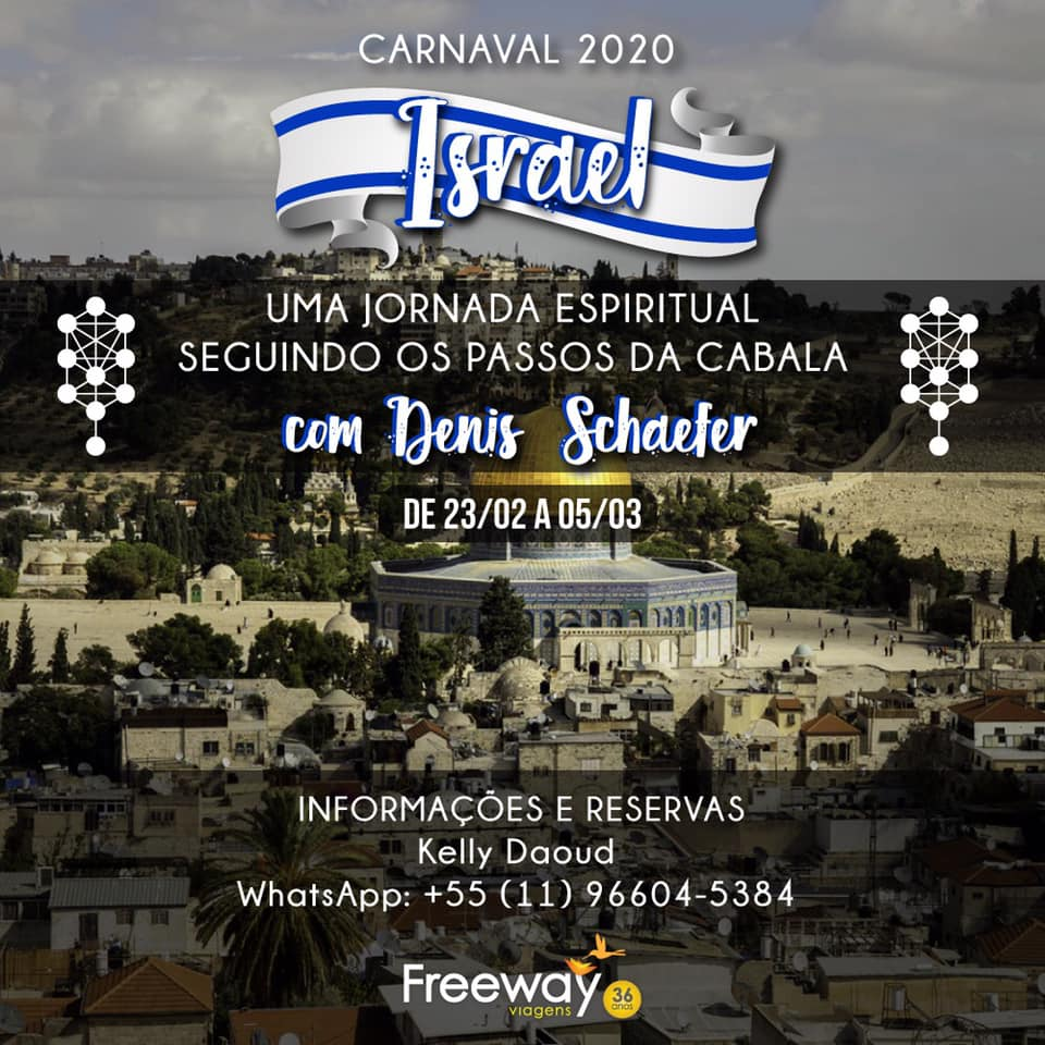 Flyer viagem Israel Carnaval 2020
