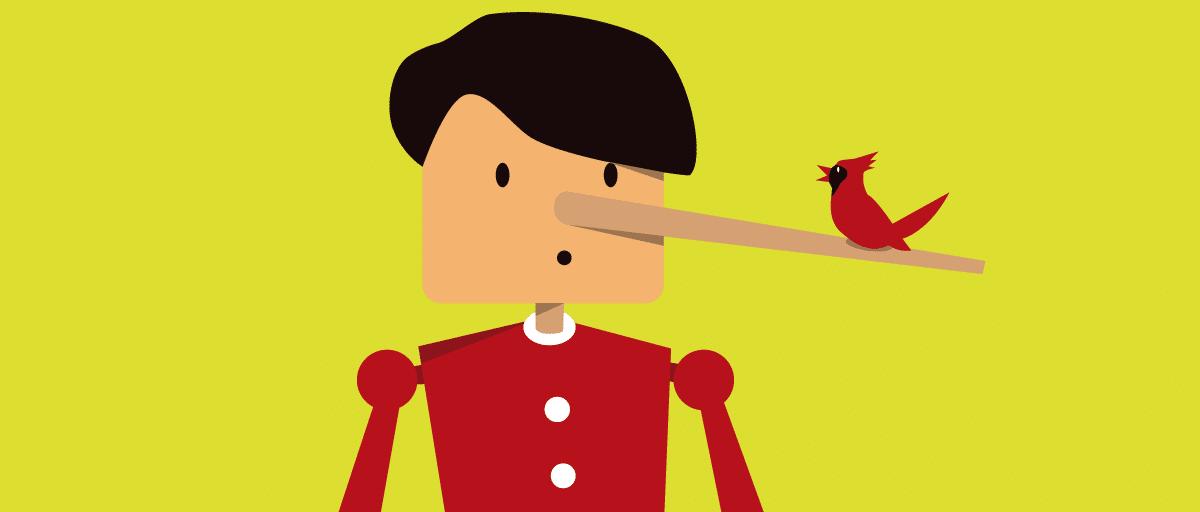 Ilustração do personagem Pinóquio.