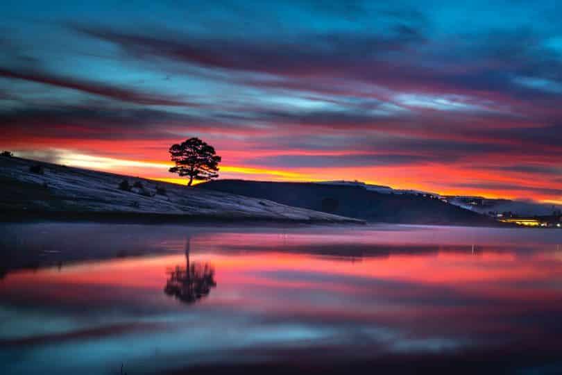 Entardecente em um lago