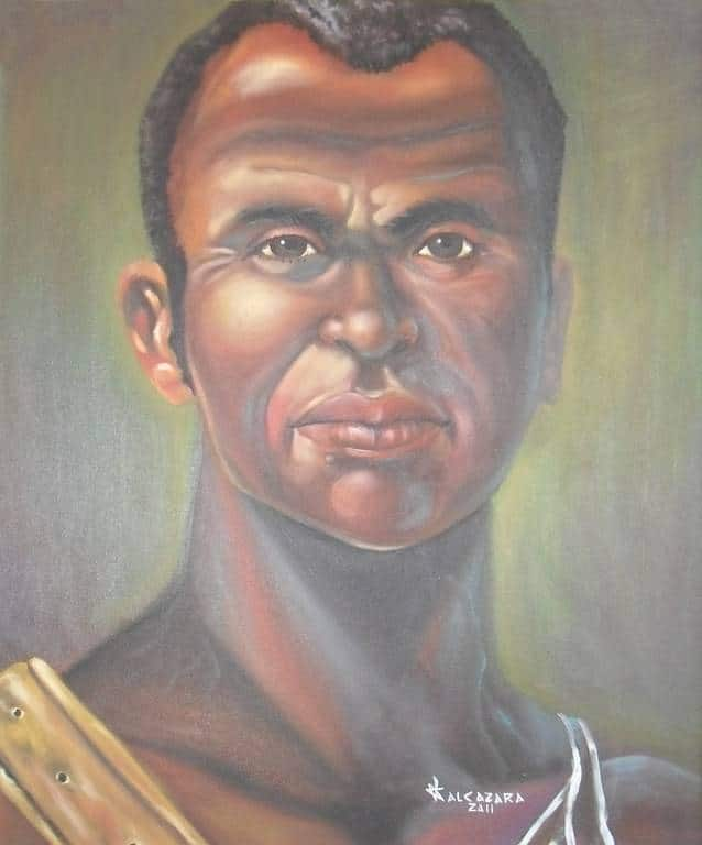 Pintura de Zumbi dos Palmares.