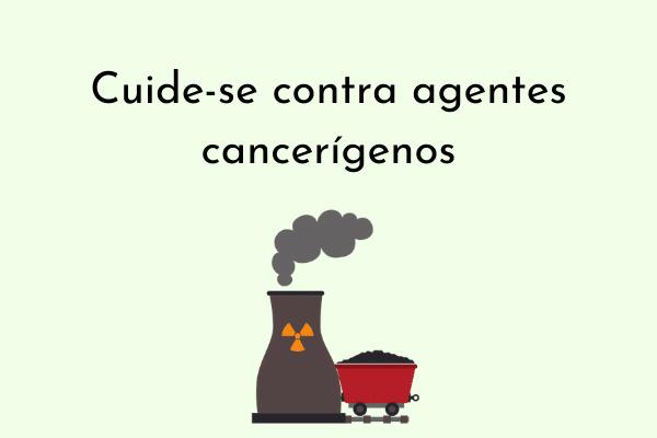 Ilustração Cuide-se contra agentes cancerígenos