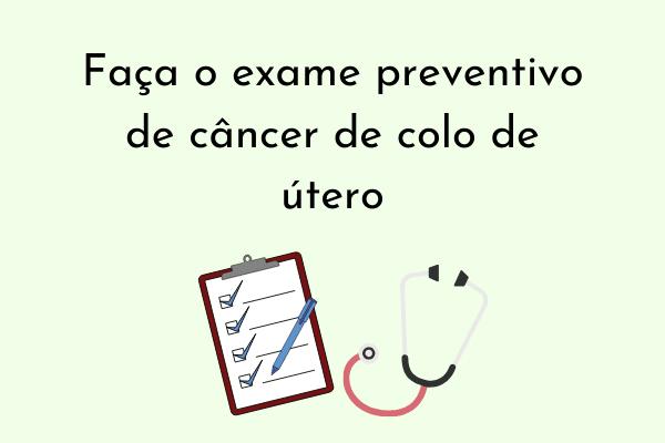 Ilustração Faça exame preventivo