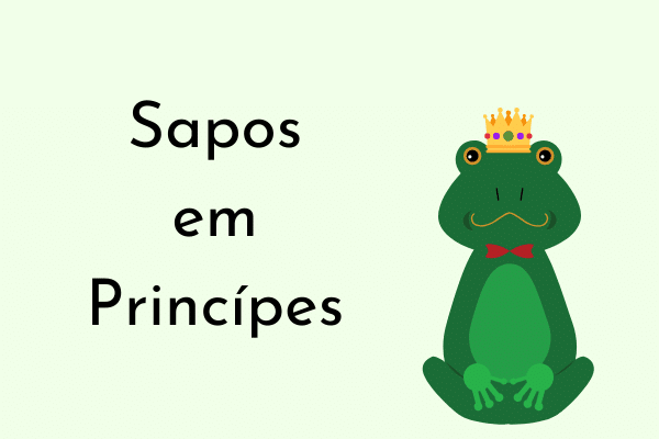 Ilustração Sapos em Príncipes