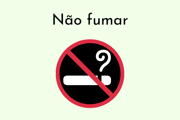 Ilustração Não fumar