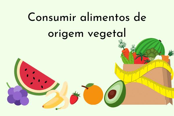Ilustração Consumir alimentos de origem vegetal