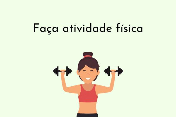 Ilustração Faça atividade física