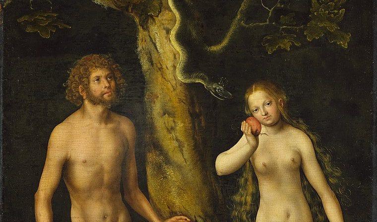 Adão e Eva de Lucas Cranach, o Velho