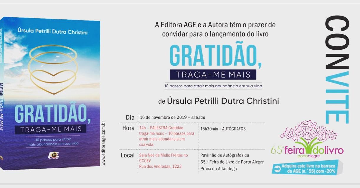 Flyer convite lançamento do livro