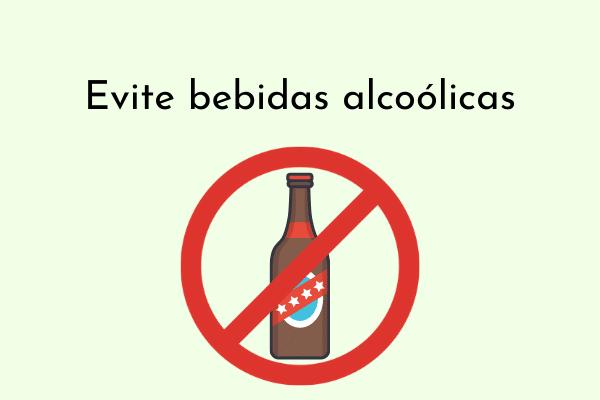 Ilustração Evite bebidas alcoólicas