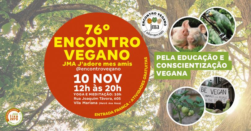 Flyer convite 76 Encontro Vegano