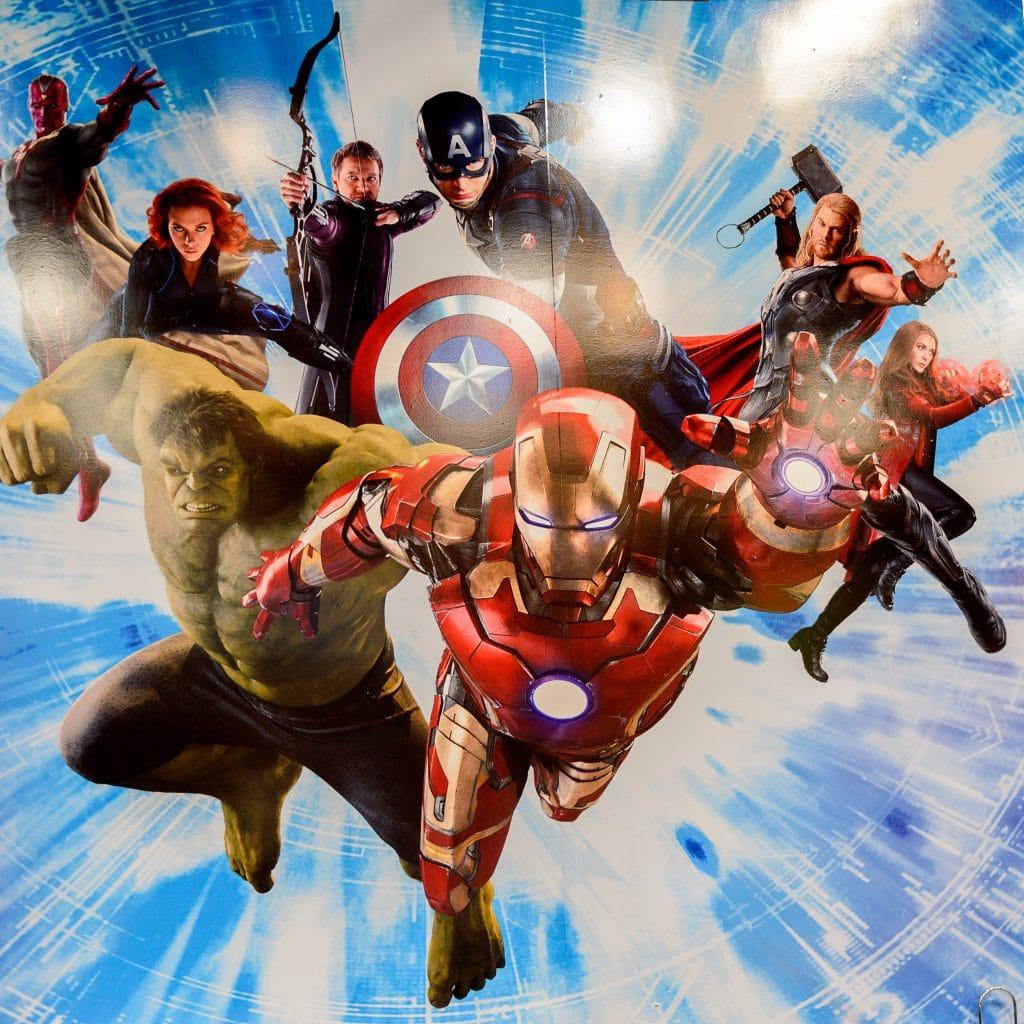 Vários super heróis da Marvel. Todos juntos em uma única imagem.