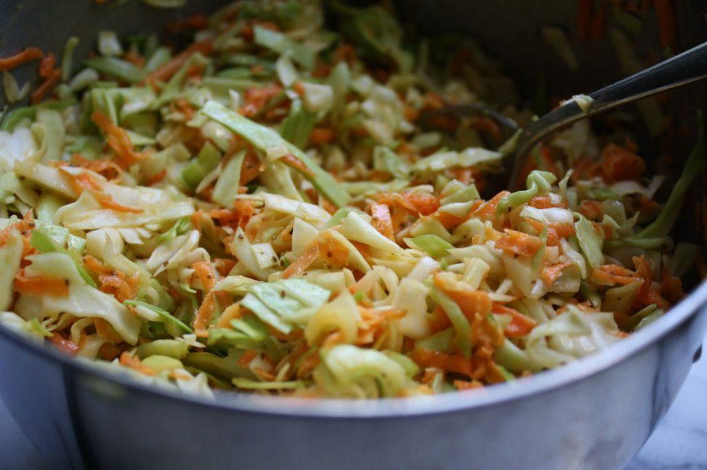 Imagem de prato com salpicão vegano