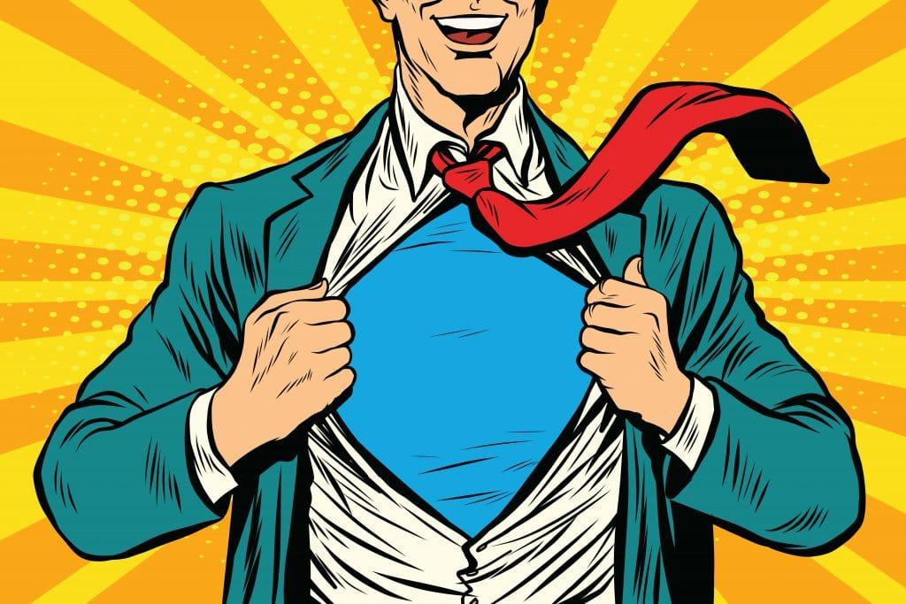 Imagem do super homem em estilo retrô.