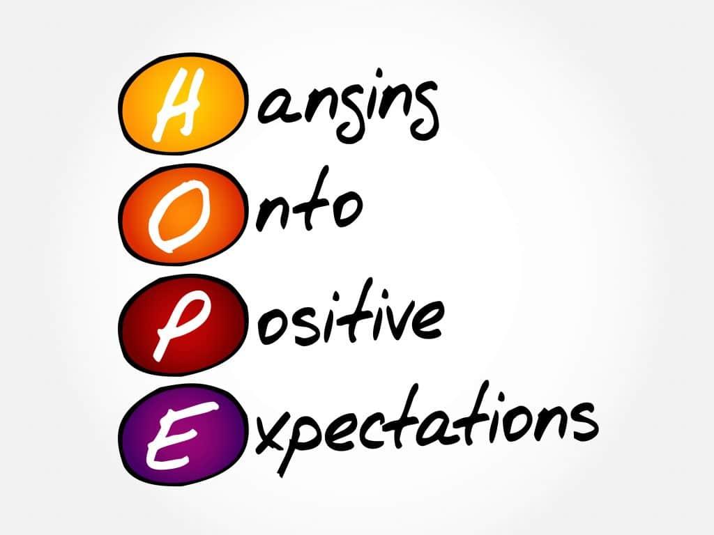 Frases otimistas: ESPERANÇA - pendurando em expectativas positivas.
