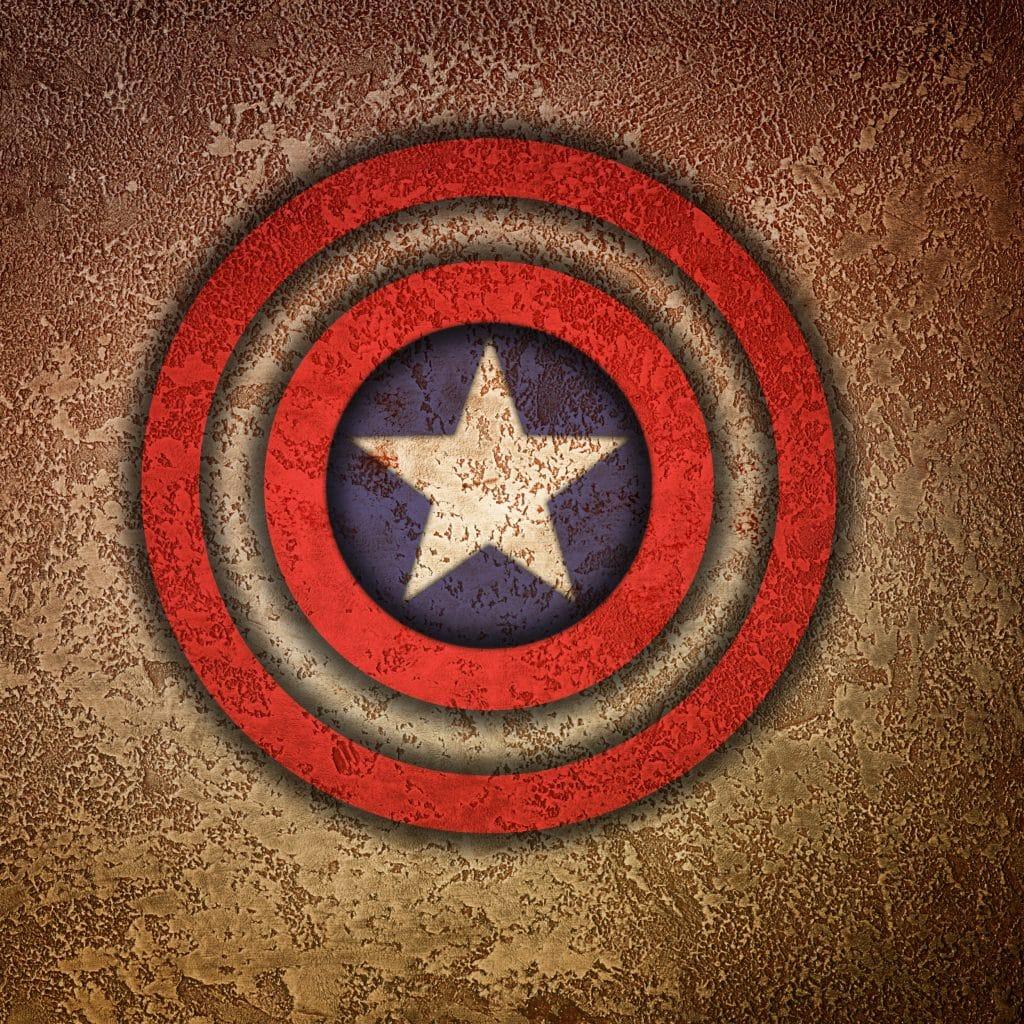 Imagem do escudo do Capitão América.