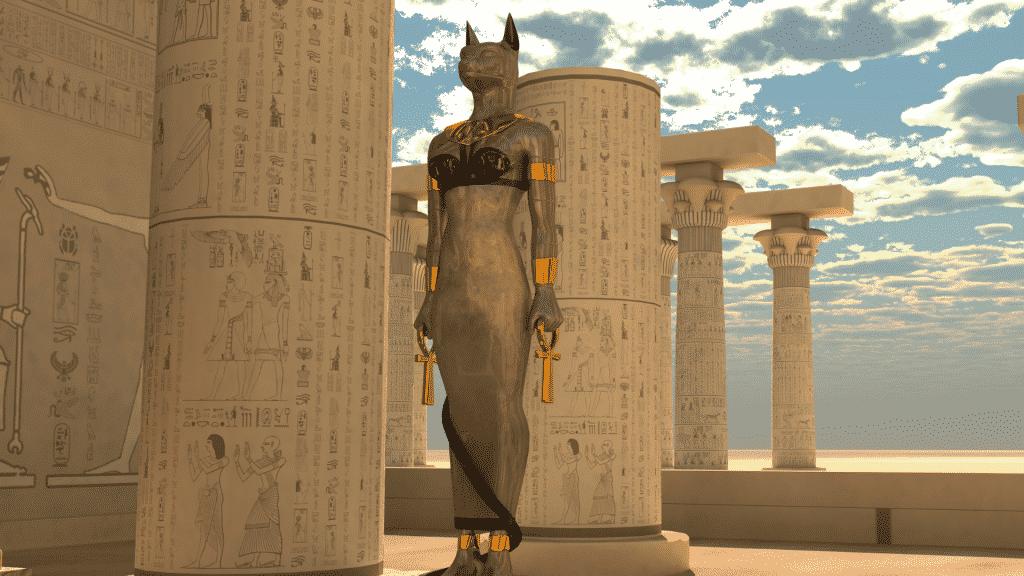 Estátua do deus egípicio Bastet