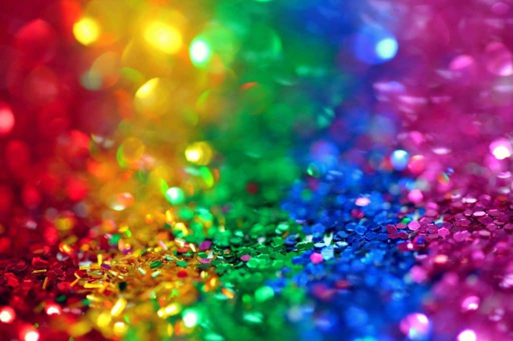 Arco-íris de glitter