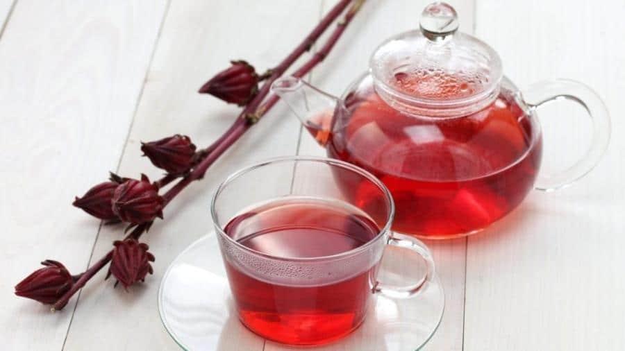 Chá de hibisco.