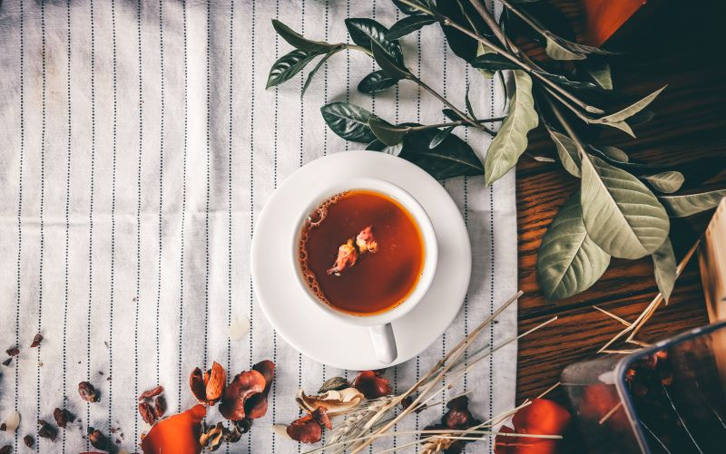 Xícara de chá.
