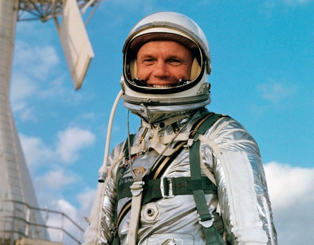 Foto de John Glenn, astronauta.