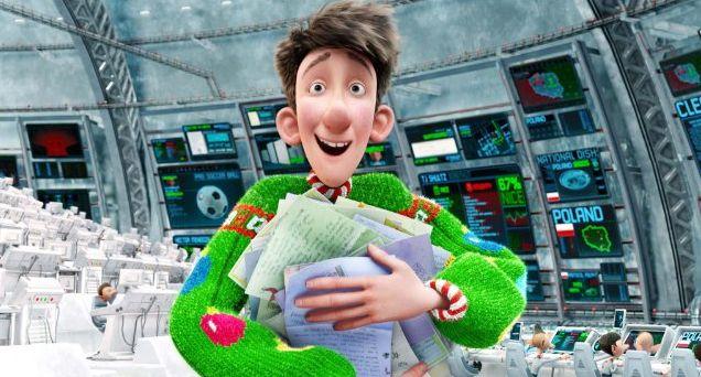 """Cena do filme """"Operação Presente"""", na qual o protagonista segura várias cartas de pedidos de Natal."""