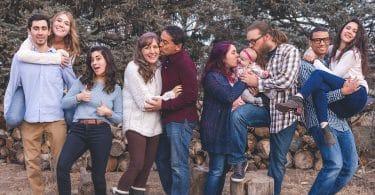 Família unida e feliz