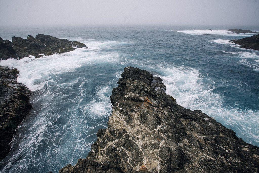 Mar agitado.
