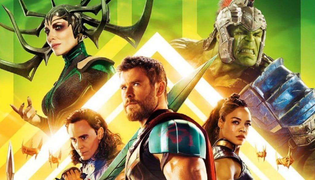 """Cartaz de """"Thor: ragnarok""""."""