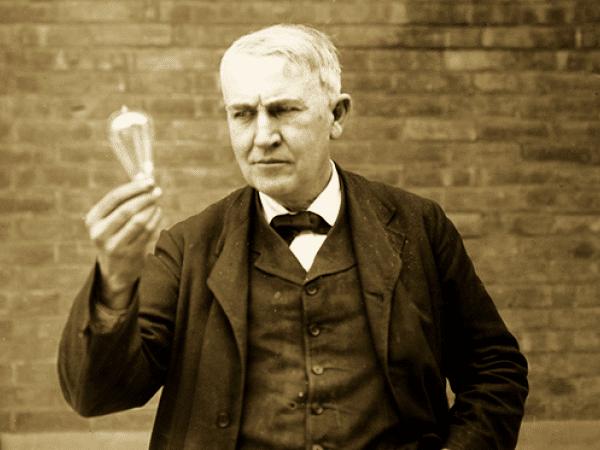Foto de Thomas Edison.