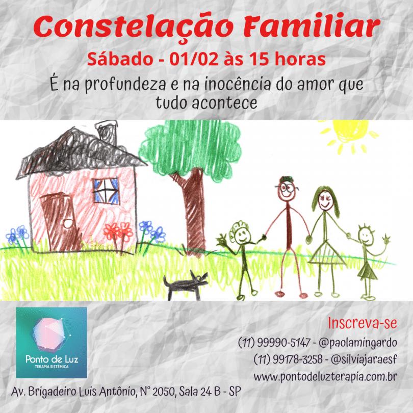 Flyer de Constelação Familiar