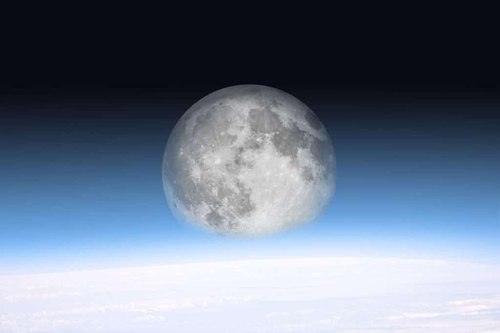 Imagem da super lua.