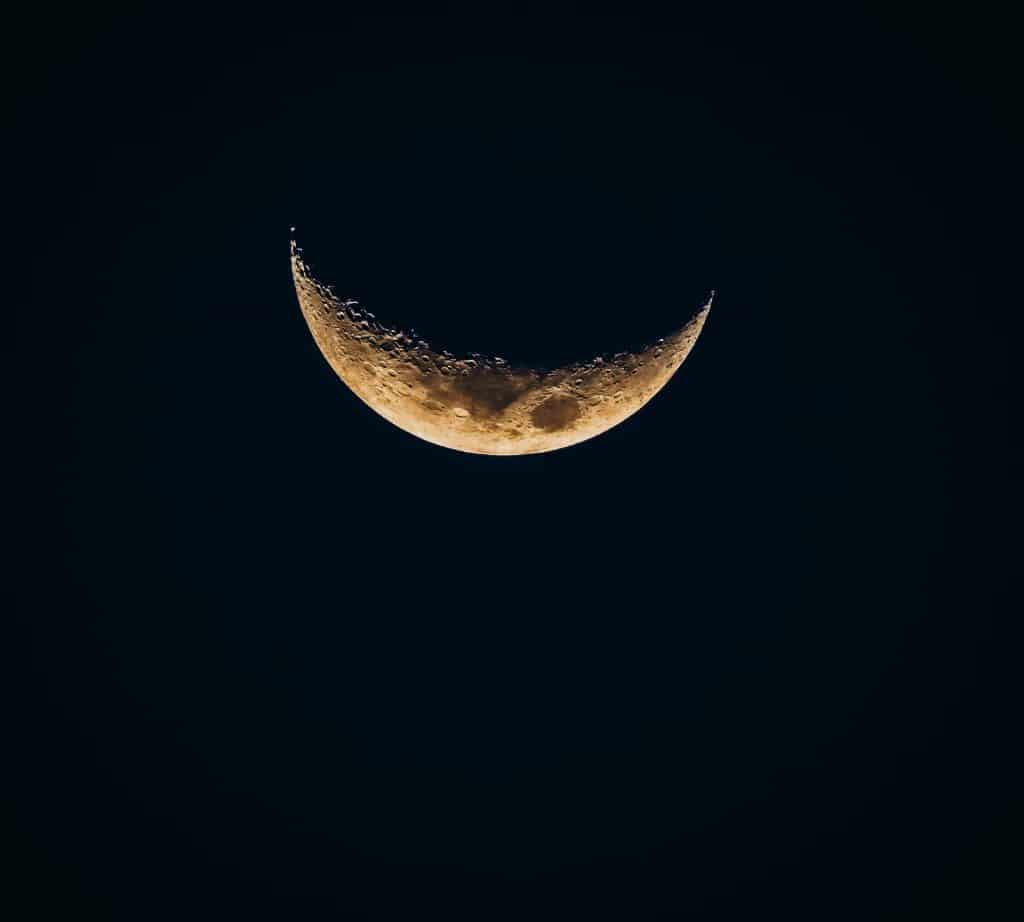 Imagem da Lua Minguante.