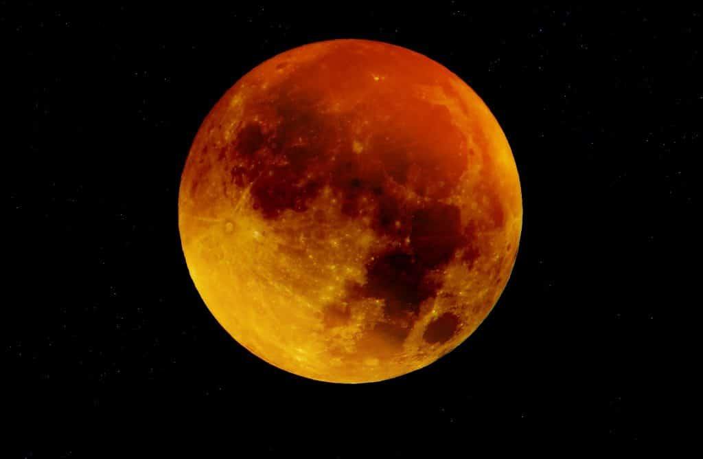 Imagem da Lua de Sangue.