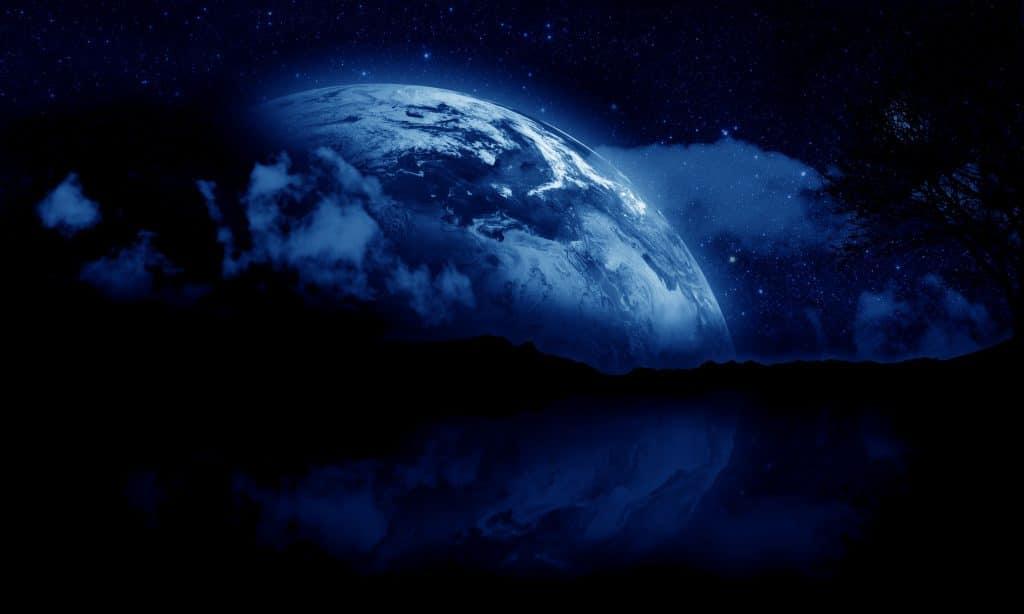 Imagem da Lua Azul.