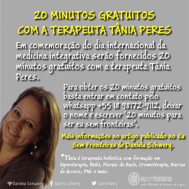 Flyer 20 minutos com Tânia Peres