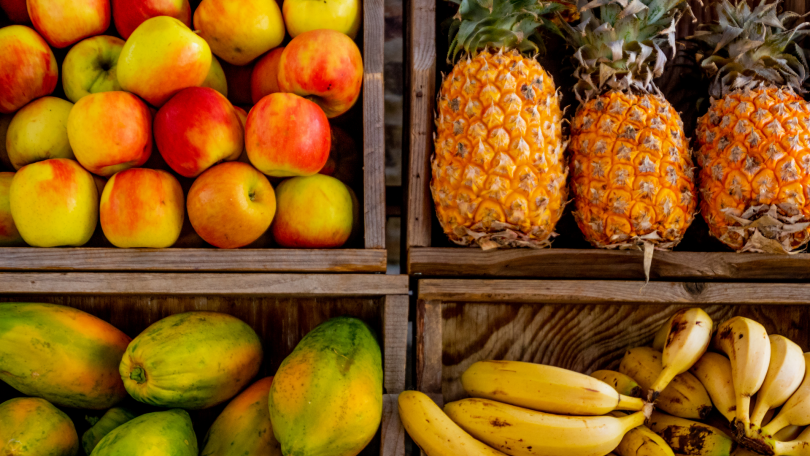 Foto de frutas na feira