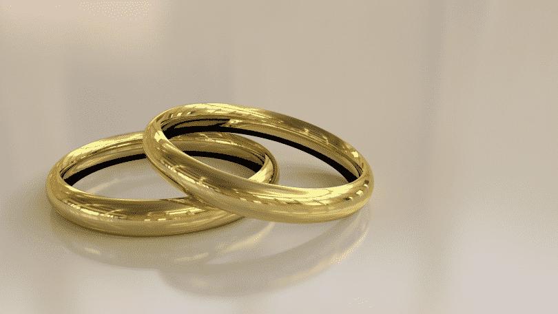 Imagem de par de alianças de casamento