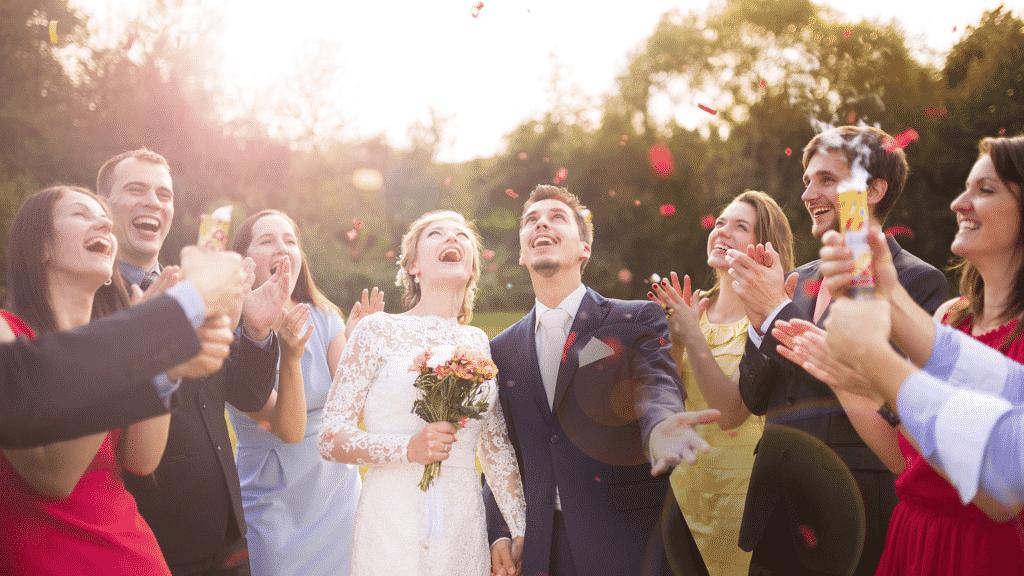 Foto de uma festa de casamento