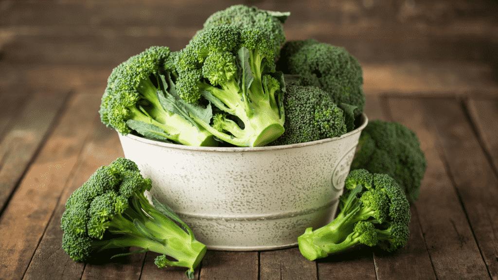 Bacia de brócolis
