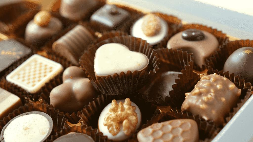 Foto de caixa de chocolates