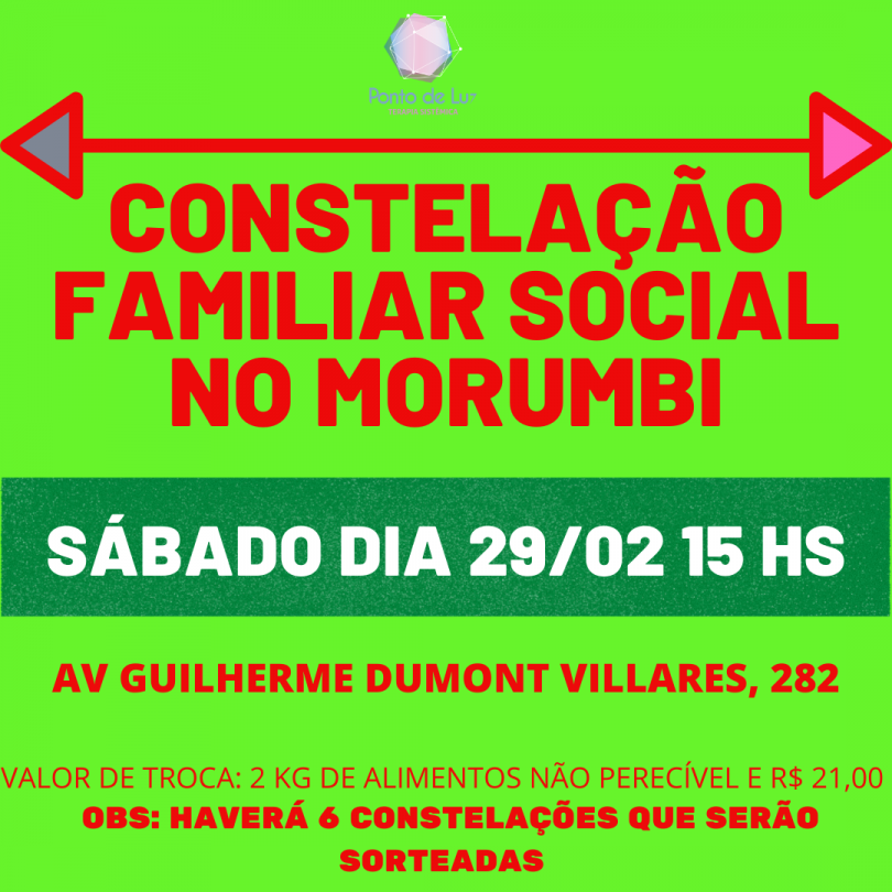Flyer COnstelação SOcial no Morumbi