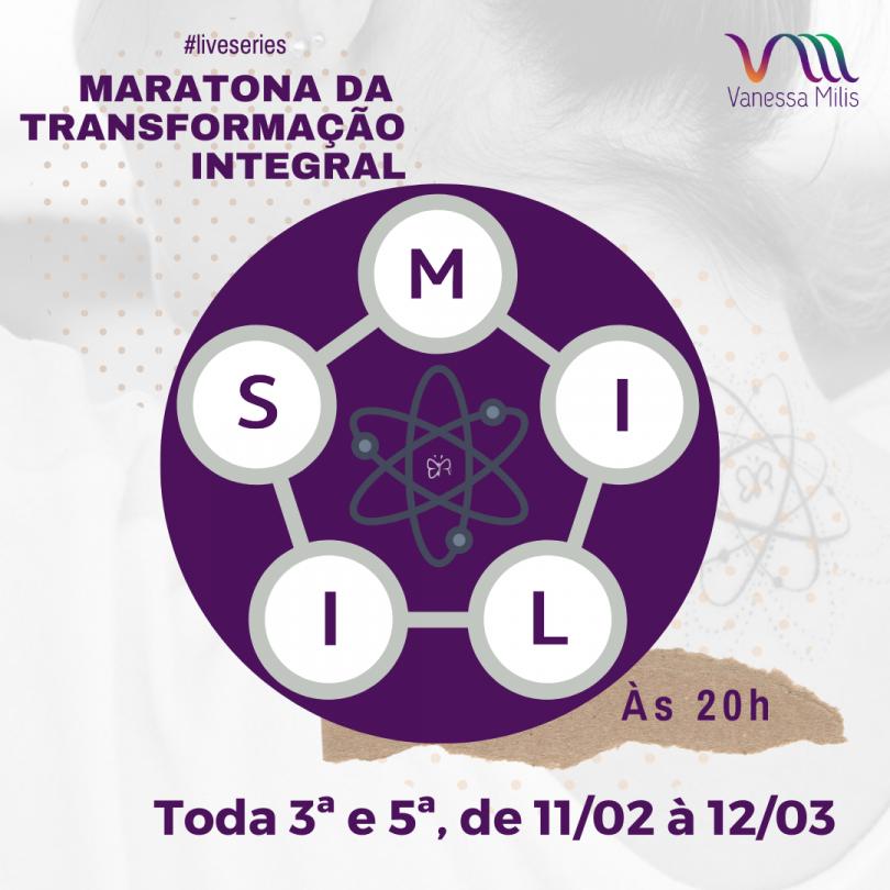 Flyer de Maratona da Transformação Integral