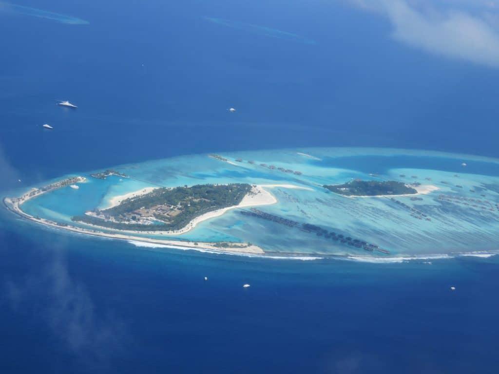 Linda imagem do oceano índico, em especial, as Ilhas Maldivas.