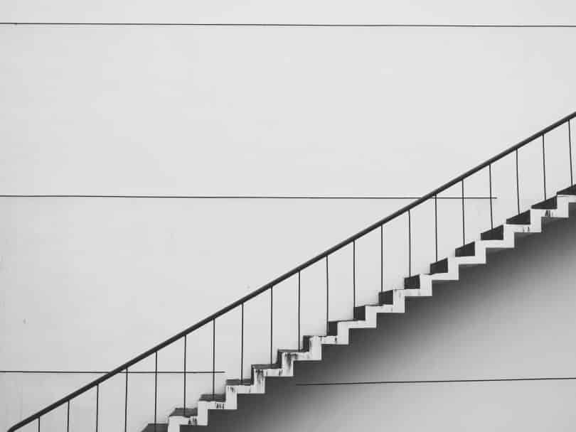 Imagem de uma escada