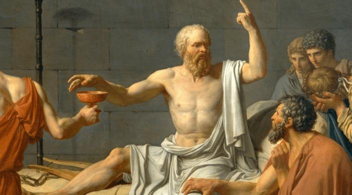 Pintura de Sócrates.